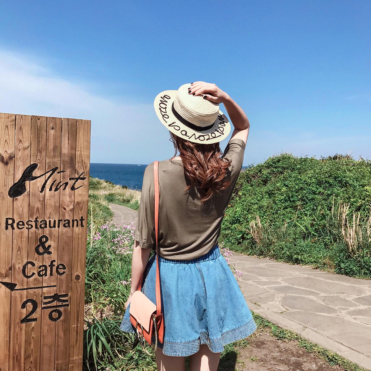 ◆MUGU蘑菇◆ 浅色宽松简单T恤女不规则个性打底衫短袖上衣女夏装3元优惠券