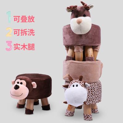 卡通动物小凳子家用沙发凳实木换鞋凳创意客厅成人可爱儿童凳子