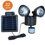 户外太阳能LED人体感应灯庭院感应壁灯太阳能双头射灯 过道路灯