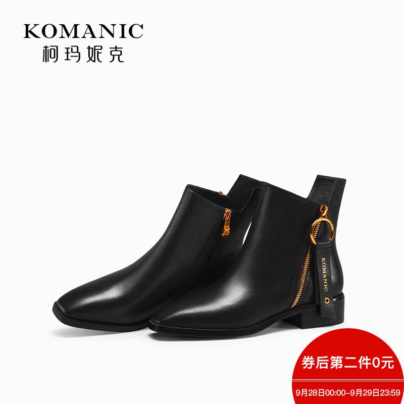 黑色骑士靴短靴