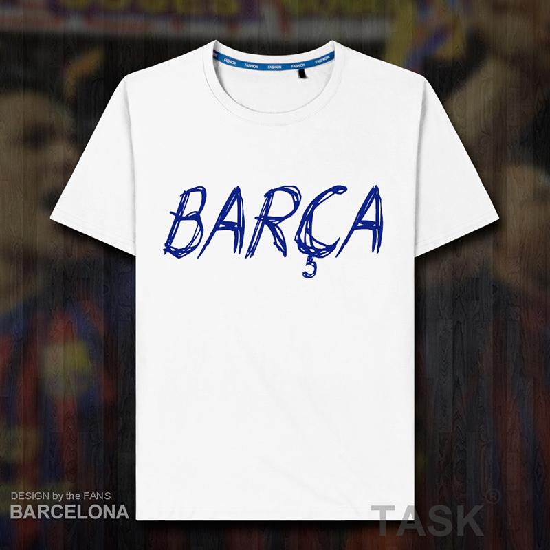 巴塞罗那短袖T恤男女装 巴萨俱乐部球迷用品纪念周边足球衣服夏07