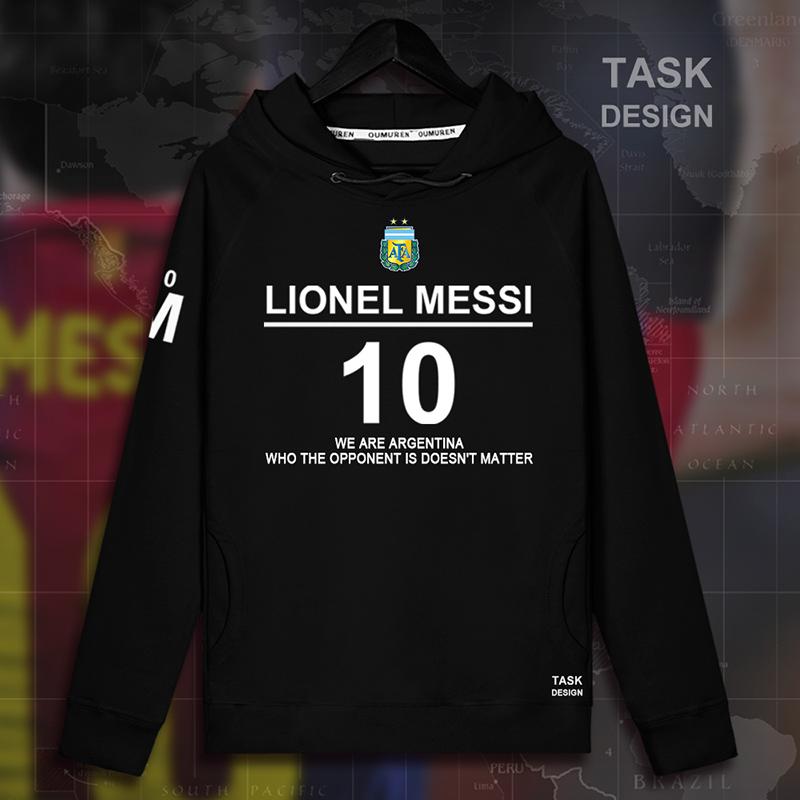 连帽卫衣加绒男梅西Messi巴萨球衣足球套头运动服男女衫外套潮08