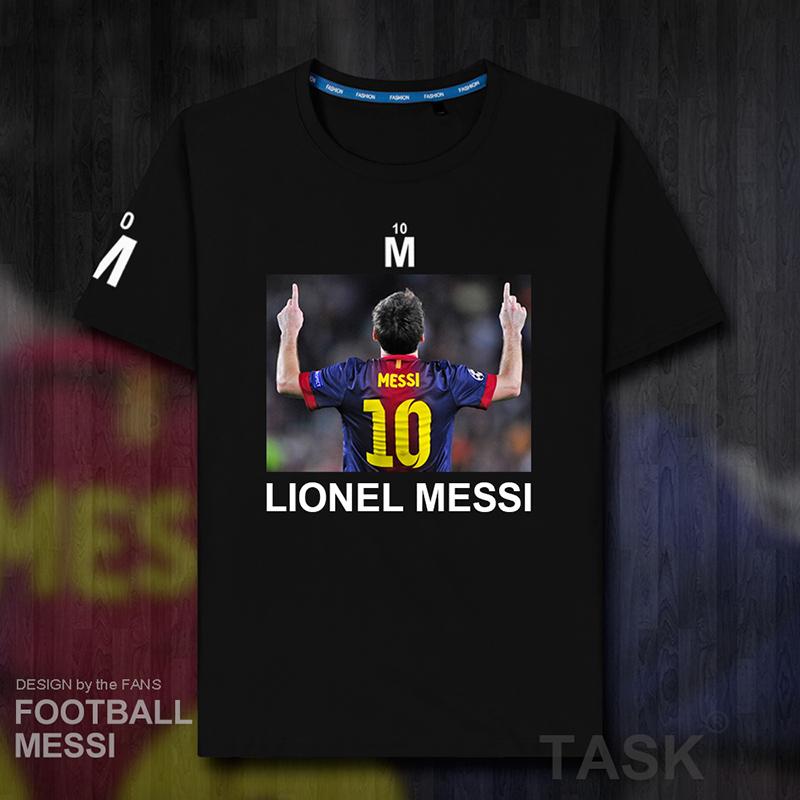 短袖T恤纯棉男 梅西Messi巴萨球衣足球训练服巴塞罗那休闲 M10 01