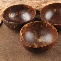Natural Vietnamese coconut shell bowl old coconut shell bowl coconut shell bowl coconut shell cutlery rice bowl dessert container fruit salad bowl