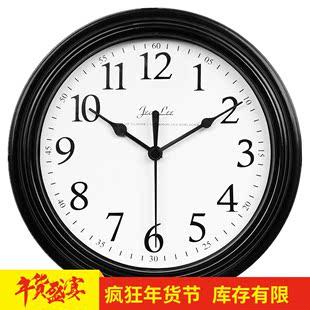 【天天特价】现代简约钟表挂钟客厅卧室家用圆形电池数字时钟挂表