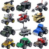 儿童益智拼装军事小积木兼容乐高男孩子玩具小颗粒塑料组装车模型