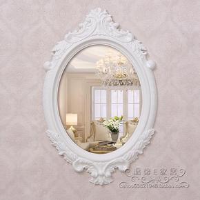 高档欧式浴室镜简约镜卫浴椭圆壁挂镜子美容院装饰镜复古镜子特价