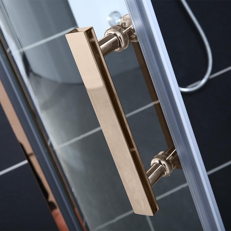 沐鸟304不锈钢淋浴房浴室弧扇形隔断洗澡全铜体滑轮卫生间沐浴房