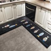 厨房地垫吸水防油地垫长条浴室防滑脚垫子进门口门垫家用卧室地毯