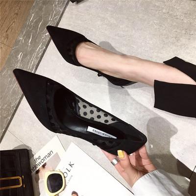 第二眼男人春季时尚女士高跟鞋新款舒适浅口尖头细跟休闲单鞋女鞋