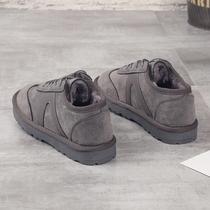 冬季手工加厚男棉鞋休闲办公室保暖男鞋子低帮老人鞋加厚传统棉鞋