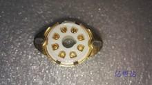 台湾产高档陶瓷镀金8脚电子管 发烧吉他音箱管座tube socket