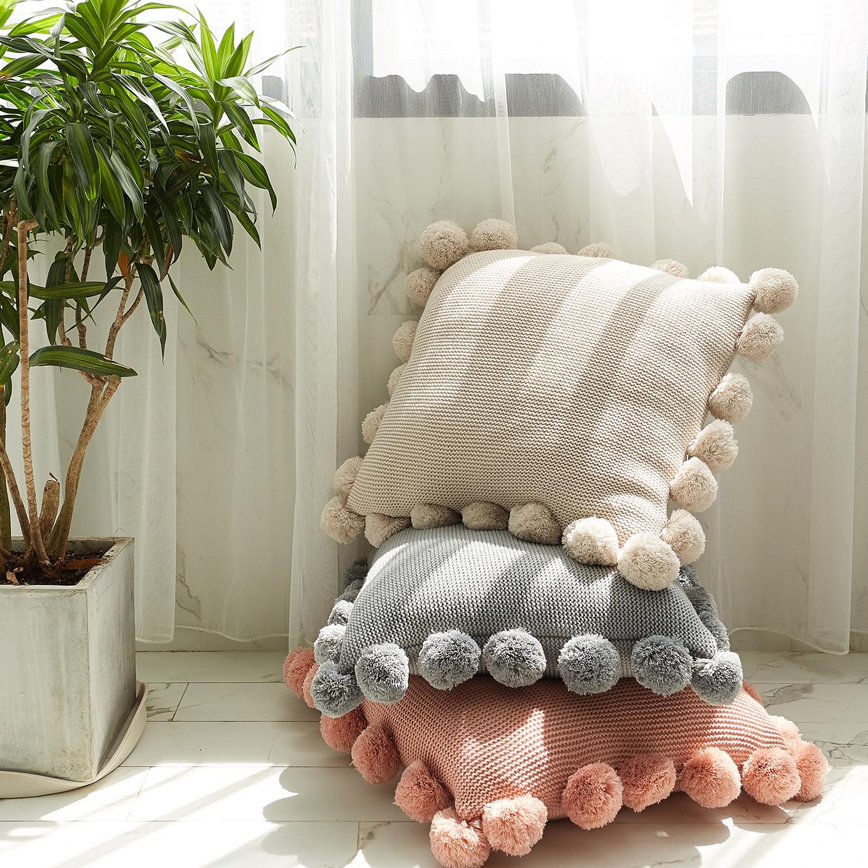 毛线抱枕靠垫