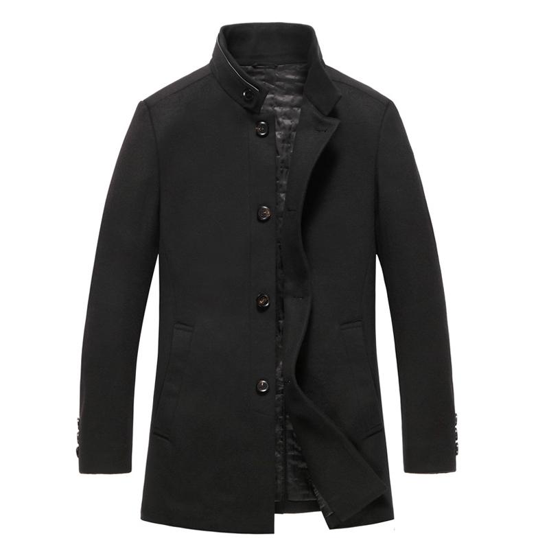 男士毛呢大衣立领呢子大衣