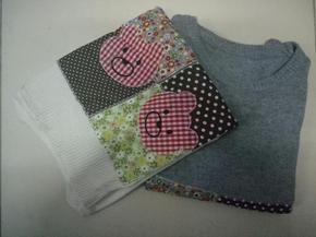 春秋新款女式卡通小熊套头圆领毛衣女学生甜美可爱加厚保暖针织衫