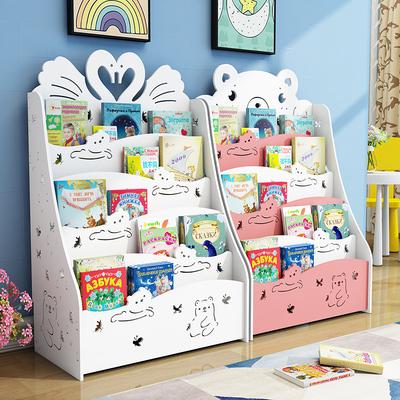 儿童书架落地简易置物架经济型学生宝宝书柜幼儿园小孩绘本收纳架