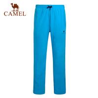 【热销3万件】CAMEL骆驼户外情侣款抓绒裤 男女简约保暖抓绒长裤