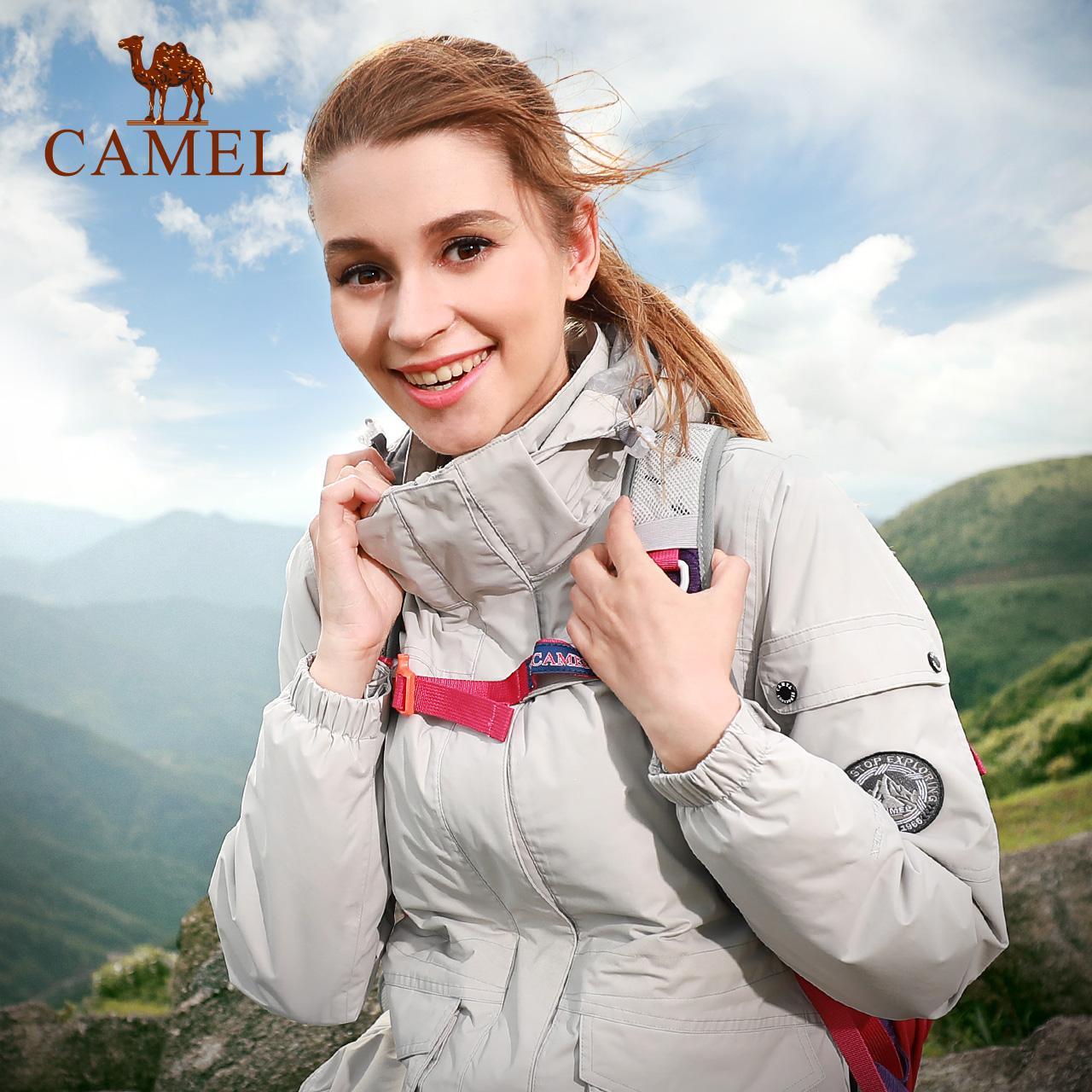 骆驼户外冲锋衣男女潮牌 防风防水抓绒保暖三合一两件套登山服装