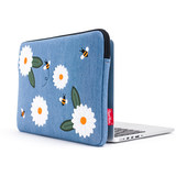 Feather moon apple laptop bag female inner bag macbook air pro embroidery denim brand