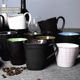 Classic creative mug large capacity simple ice crack glaze ceramic cup milk coffee cup household water tea cup