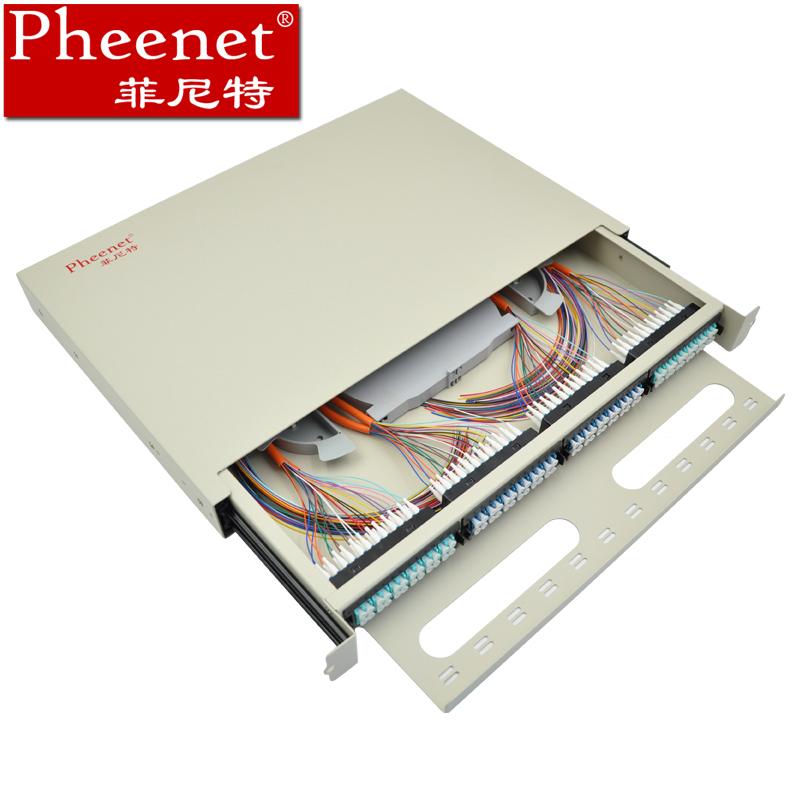 Pheenet菲尼特 96芯LC多模抽拉式光纤配线架机架式抽拉箱终端盒