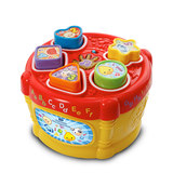 VTech VTech Paired Music Drum Shape Matching Toys Geometry Cognitive Box Shape Box Box