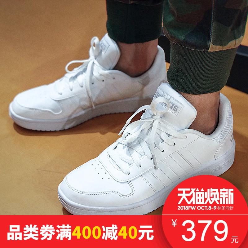 阿迪达斯男鞋2018新款NEO休闲鞋低帮运动鞋轻便板鞋小白鞋DB1085