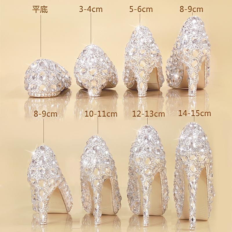高跟鞋水晶底