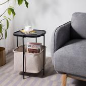 北欧现代简约铁艺边几客厅沙发角几圆形储物袋收纳小桌子