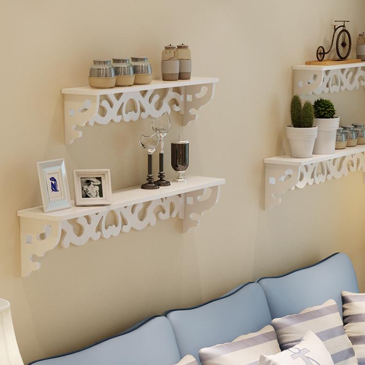 【无痕钉】雕花壁架隔板架置物架墙上托架创意装饰架支架壁架包邮