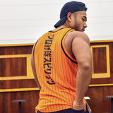 HANSBENNY striped baseball vest print casual sports fitness basketball original vest summer tide