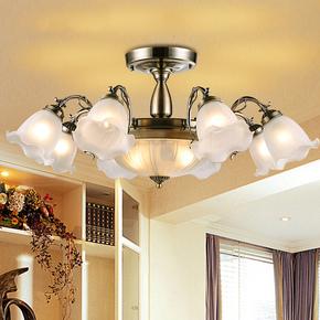 欧式田园吸顶灯 客厅灯卧室灯温馨仿古餐厅灯具阳台LED矮户型吊灯