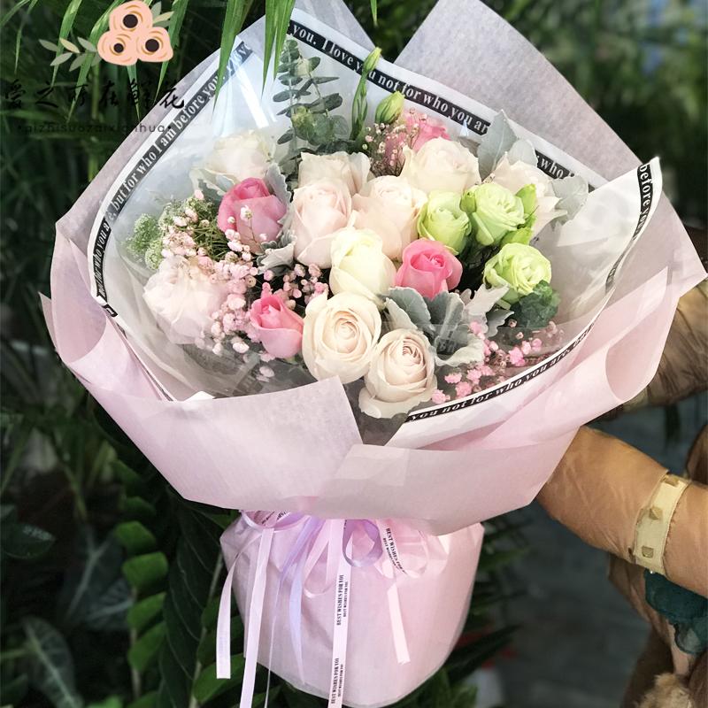 长沙鲜花店同城玫瑰花束礼盒湘潭株洲情人节星沙速递生日送花上门