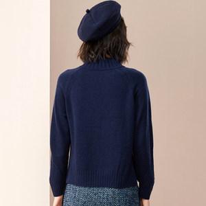 浅秋专柜同款女装纯羊毛衫2018秋冬季新款针织毛衣厚半高领H80500