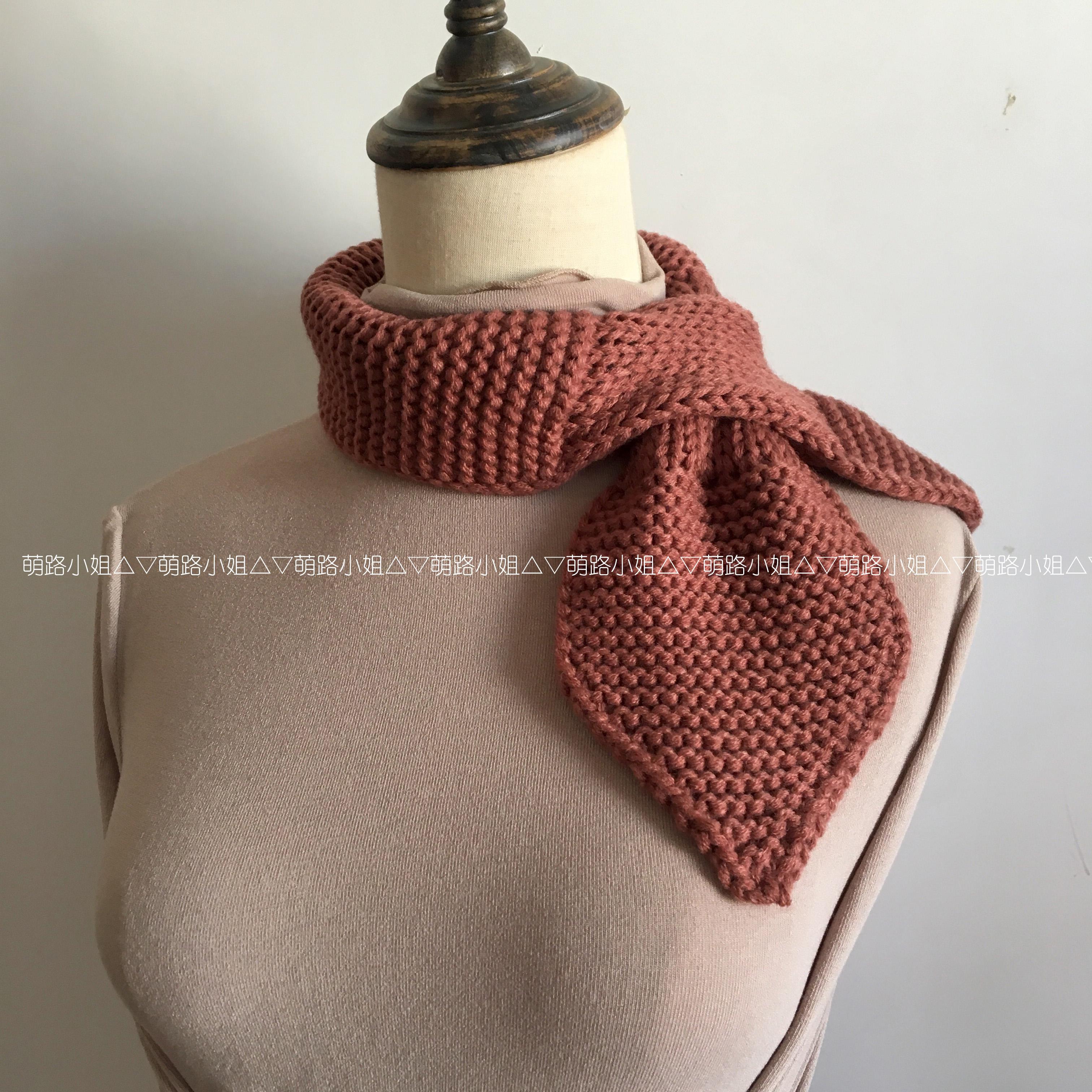 纯手工编织毛围巾