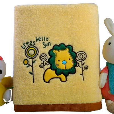 法漫娇卡通儿童浴巾纯棉柔软新生婴儿宝宝加厚盖毯包被正方形吸水