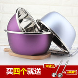 Stainless steel basin home round soup basin baked egg pot kitchen wash basin stainless steel bowl and noodle pot rice bowl