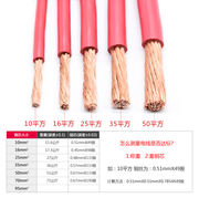 Jinlianyu GB flame retardant BVR10 16 25 35 50 70 square strand copper wire copper core soft wire loose shear