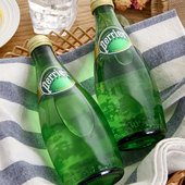 中粮 法国进口 巴黎水原味含气天然矿泉水330ml*24瓶