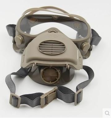 包邮防风防灰尘半面罩带眼镜防打磨粉尘面具防粉尘颗粒物防护口罩