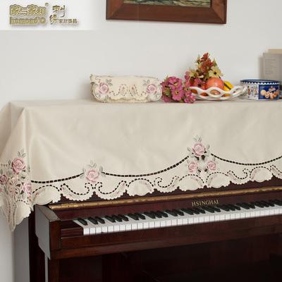 欧式刺绣钢琴巾 布艺钢琴半罩钢琴防尘罩钢琴盖布高档钢琴套旗舰店网址