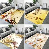 水墨画3D印染艺术地毯卧室床边满铺可爱客厅阳台飘窗地垫玄关脚垫
