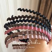 韩国发饰头饰品 现货 超舒适基础树脂波浪形发箍 头箍