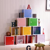 书柜自由组合置物组装储物收纳柜子简约现代带门塑料简易书架格子