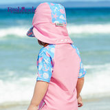 Australian import Rashoodz children's short-sleeved hat with sun-proof zippered swimsuit beachcoat