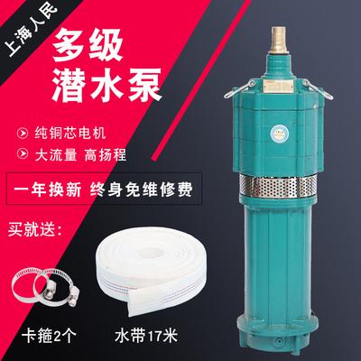 上海人民多级潜水泵高扬程农用抽水机灌溉工地降水泵小老鼠家用泵