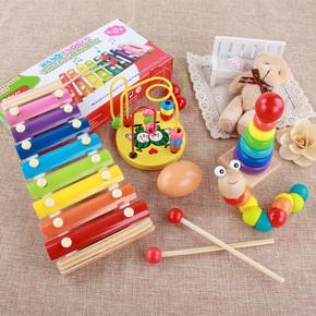 嬰幼兒玩具琴1-3歲嬰兒童八音小木琴益智8個月寶寶手敲琴打擊樂器