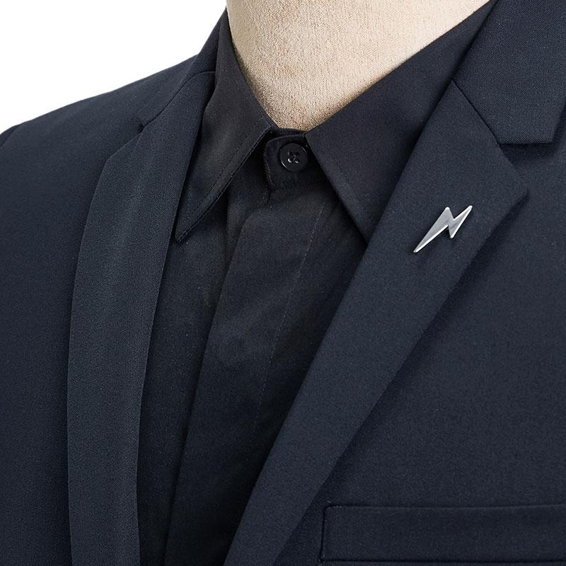 太平鸟男装2017男士藏蓝色正装西服上班修身休闲西装韩版修身外套