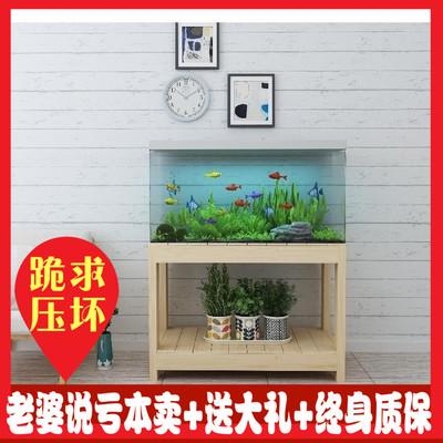 实木鱼缸底柜底架底座松木草缸鱼缸架子定做鱼缸柜水族箱包邮新款推荐