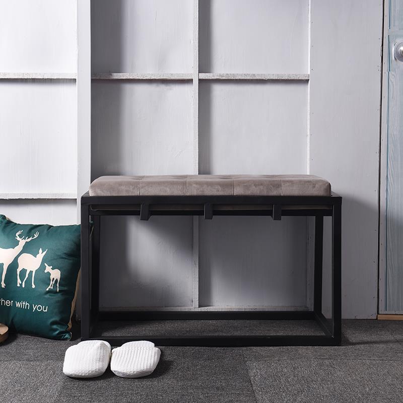 欧式铁艺服装店休闲换鞋凳长椅床尾凳北欧沙发凳子